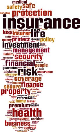 surety: Parola Assicurazione cloud concetto illustrazione