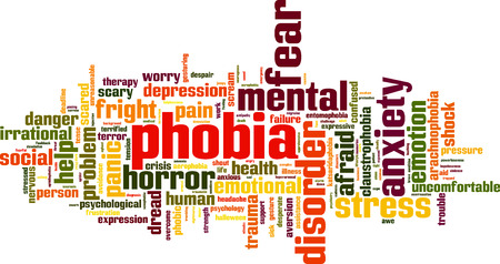 Phobia word cloud concept. Vector illustration Illustration