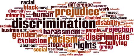 Discriminatie woord wolk concept. Vector illustratie Stockfoto - 34020718