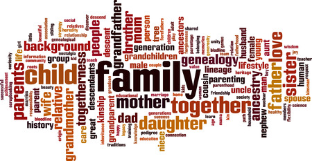 Family word cloud concept. Vector illustration Stock Vector - 34020726