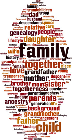 Family word cloud concept. Vector illustration Vector