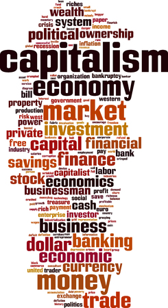 Capitalism word cloud concept. Vector illustration