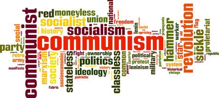 moneyless: Communism word cloud concept. Vector illustration Illustration