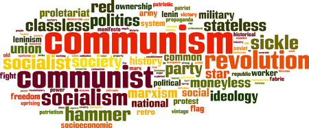 Communism word cloud concept. Vector illustration Illustration