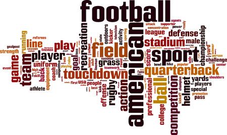 nfl helmet: American football word cloud concept. Vector illustration Illustration