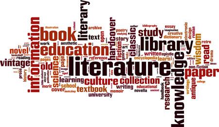 literature: Literature word cloud concept. Vector illustration Illustration