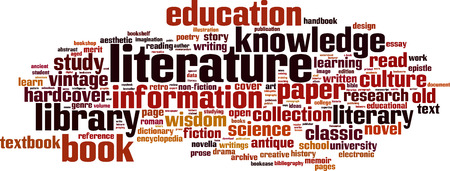 Literature word cloud concept. Vector illustration Illustration