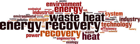 waste recovery: Energy recovery word cloud concept. Vector illustration Illustration