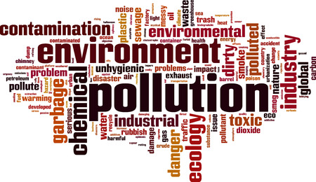 contaminant: Pollution word cloud concept. Vector illustration