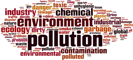 toxic emissions: Pollution word cloud concept.