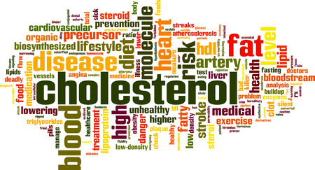 Cholesterol word cloud concept. Vector illustration