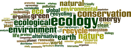 environmental analysis: Ecology word cloud concept. Vector illustration Illustration