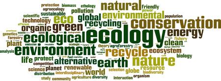 interdisciplinary: Ecology word cloud concept. Vector illustration Illustration