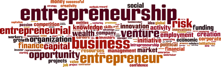 entities: Entrepreneurship word cloud concept. Vector illustration