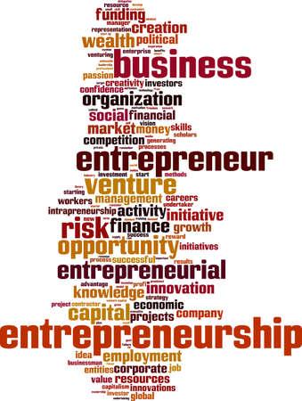 entrepreneurial: Entrepreneurship word cloud concept. Vector illustration