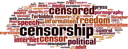 censorship: Censorship word cloud concept. Vector illustration Illustration