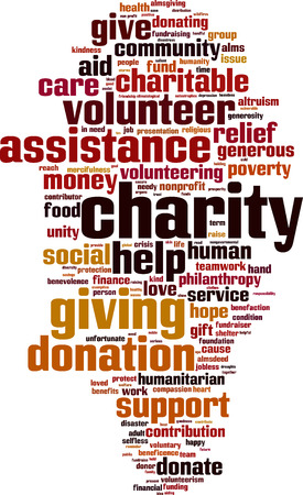 Charity word cloud concept. Vector illustration Imagens - 34863373