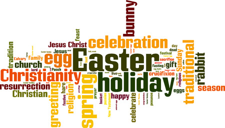 holy family: Easter word cloud concept. Vector illustration Illustration