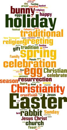 lent: Easter word cloud concept. Vector illustration Illustration