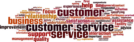 business words: Customer Service word cloud concept. Vector illustration