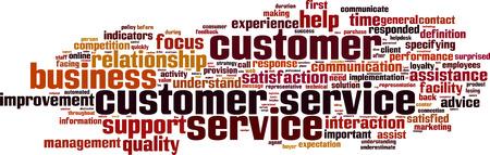 kunden: Kundenservice Wort Cloud-Konzept. Vektor-Illustration
