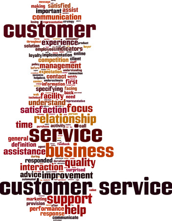 responded: Customer Service word cloud concept. Vector illustration
