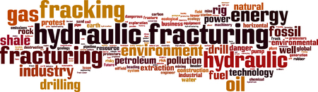 dikes: Hydraulic Fracturing word cloud concept. Vector illustration