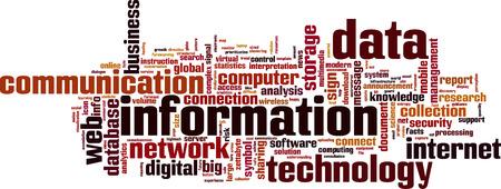 constraint: Information word cloud concept. Vector illustration