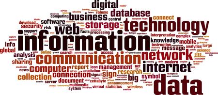 entropy: Information word cloud concept. Vector illustration