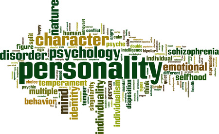 Personality word cloud concept. Vector illustration Vectores
