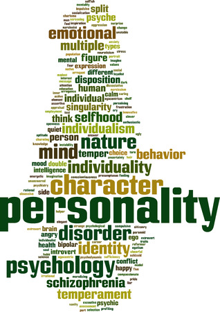 disposition: Personality word cloud concept. Vector illustration Illustration