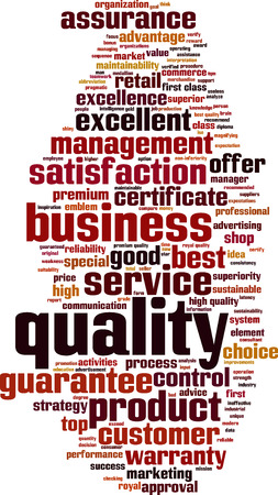 conformance: Quality word cloud concept. Vector illustration