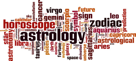 vague: Astrology word cloud concept. Vector illustration