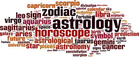pseudoscience: Astrology word cloud concept. Vector illustration