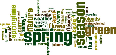 temperate: Spring word cloud concept. Vector illustration