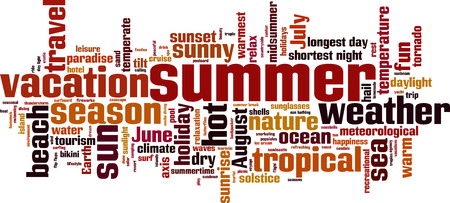 temperate: Summer word cloud concept. Vector illustration