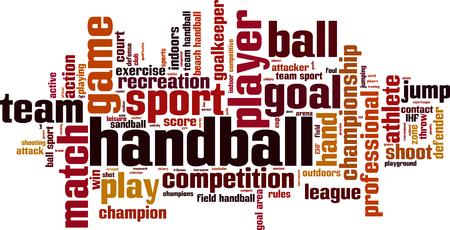Handball Wort Cloud-Konzept. Vektor-Illustration