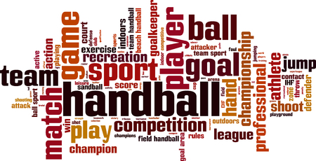 terrain de handball: mot de concept de nuage de Handball. Vector illustration
