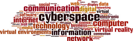 Cyberspace word cloud concept. Vector illustration Vector