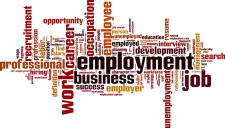 Employment word cloud concept. Vector illustration 일러스트