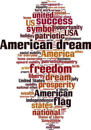 equal opportunity: American dream word cloud concept illustration Illustration