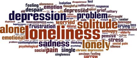 soledad: Palabra Soledad concepto de nube. Ilustraci�n vectorial