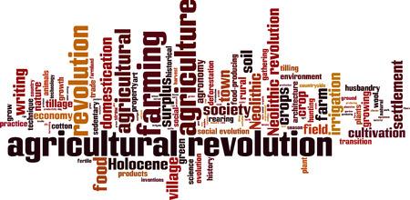 Agricultural revolution word cloud concept. Vector illustration Çizim