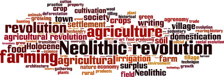 neolithic: Neolithic revolution word cloud concept. Vector illustration