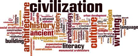 civilization: Civilization word cloud concept. Vector illustration Illustration