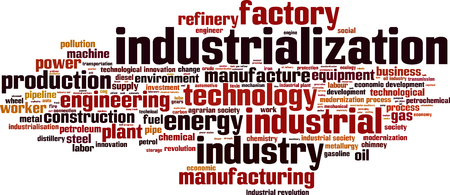 industrialization: Industrialization word cloud concept. Vector illustration
