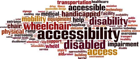 accessibilit�: Parola Accessibilit� nuvola concetto. Illustrazione vettoriale Vettoriali