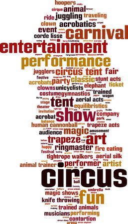 Circus word cloud concept. Vector illustration Vector
