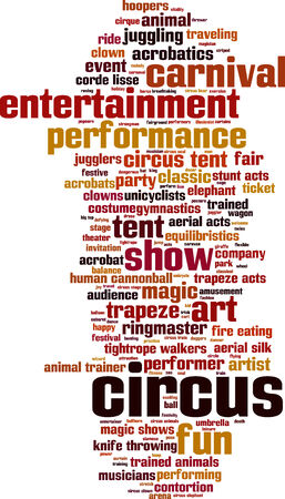Circus word cloud concept. Vector illustration