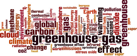 greenhouse gas: Greenhouse gas word cloud concept. Vector illustration Illustration